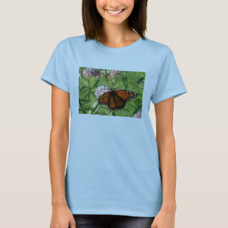 Milkweed Blossoms and Monach T-Shirt