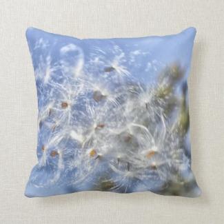 Milkweed Fluff Throw Pillows