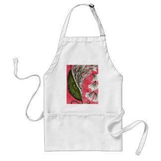 """Milkweed Pod #2"" Floral Apron"