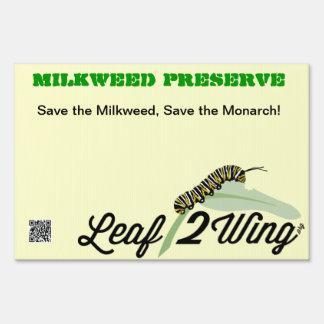 Milkweed Preserve Yard/Garden Sign w/stand