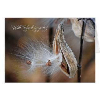 Milkweed Sympathy Card