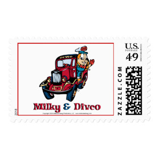 Milky and Divco Stamp