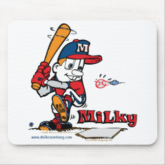 Milky Baseball Player American Mouse Pad