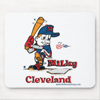 Milky Baseball Player Cleveland Mouse Pad