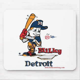 Milky Baseball Player Detroit Mouse Pad