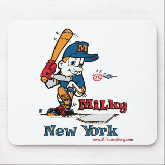 Milky Baseball Player New York Mouse Pad