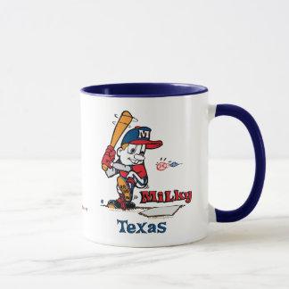 Milky Baseball Player Texas Mug