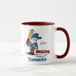 Milky Baseball Player Toronto Mug