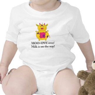 Milky Cow shirt for baby girls