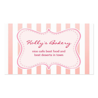 milky design bakery business card