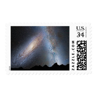 Milky Way Andromeda Galaxy Stars Space Stamp