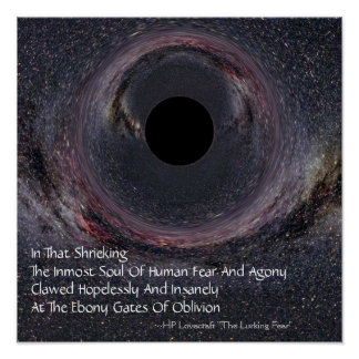 Milky Way Black Hole Lovecraft Poster