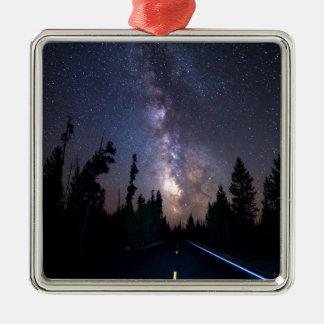 MIlky Way Drive Metal Ornament