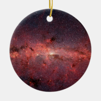 Milky Way Galactic Center, Stars, Clouds, Clusters Ceramic Ornament