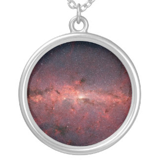 Milky Way Galactic Center, Stars, Clouds, Clusters Round Pendant Necklace