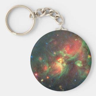 Milky Way Galaxy Basic Round Button Keychain
