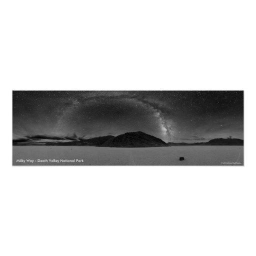 Milky Way Galaxy - Death Valley National Park Poster