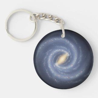 Milky Way Galaxy Double-Sided Round Acrylic Keychain