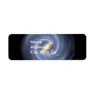 Milky Way Galaxy Return Address Labels