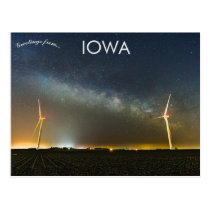 Milky Way Galaxy Over Farms In Rural Iowa USA Postcard