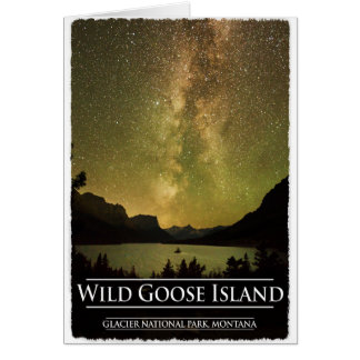 Milky Way Galaxy Over St Mary Lake Glacier Park Card