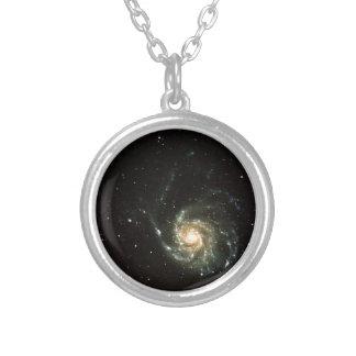 milky way galaxy round pendant necklace