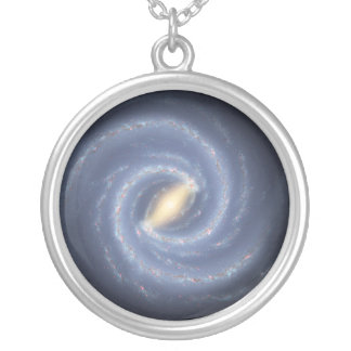 Milky Way Galaxy Silver Plated Necklace