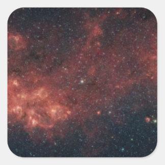 Milky Way Galaxy Square Sticker