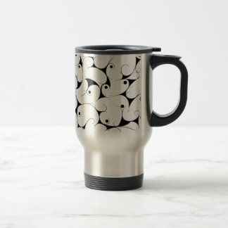 Milky way in black travel mug