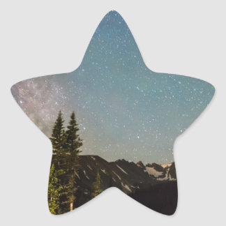 Milky Way Magic Longs Lake and the Indian Peaks Star Sticker