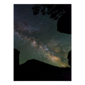 Milky Way Near Mammoth Hot Springs Poster