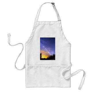 Milky Way Night to Day Adult Apron