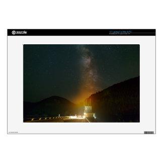 Milky Way over Detroit Dam Laptop Skin