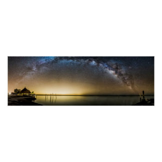 Milky Way over Florida Bay Poster