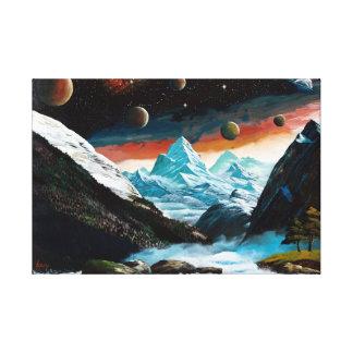 Milky Way polar region Canvas Print