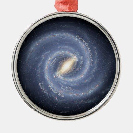 Milky Way Round Metal Christmas Ornament