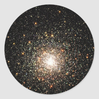Milky Way Star Cluster Classic Round Sticker