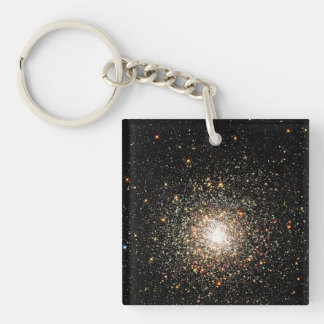 Milky Way Star Cluster Double-Sided Square Acrylic Keychain