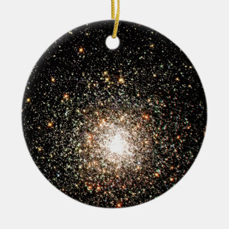 Milky Way Star Cluster Double-Sided Ceramic Round Christmas Ornament