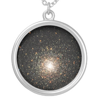 Milky Way Star Cluster Round Pendant Necklace