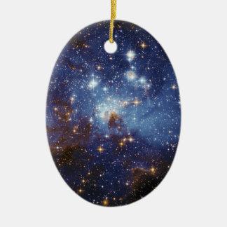 Milky Way Star Formation Stellar Nursery LH 95 Ceramic Ornament