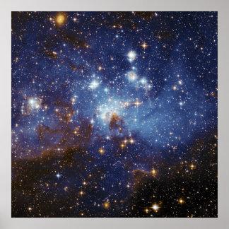 Milky Way Star Formation Stellar Nursery LH 95 Poster