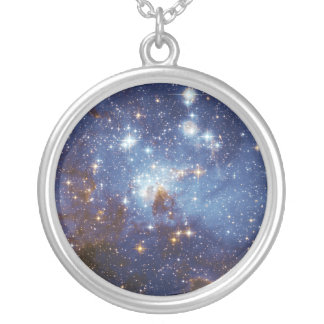 Milky Way Star Formation Stellar Nursery LH 95 Round Pendant Necklace