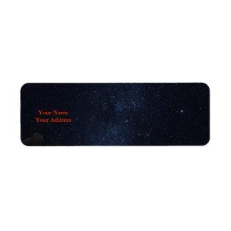 Milky Way Stars Label