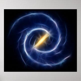 Milky Way Stars Spiral Galaxy Poster
