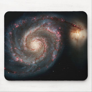 Milky Way Whirlpool Galaxy Mouse Pad