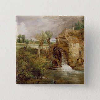 Mill at Gillingham, Dorset, 1825-26 (oil on canvas Pinback Button