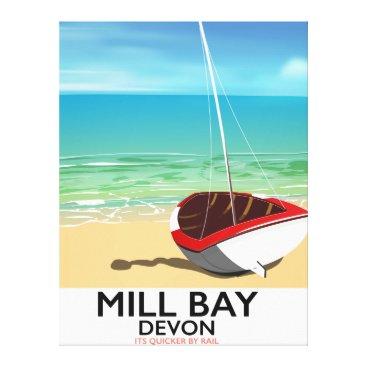 Mill Bay Devon Rail poster Canvas Print