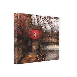 Mill - Clinton, NJ - The mill and wheel Canvas Print