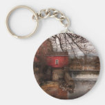 Mill - Clinton, NJ - The mill and wheel Keychain